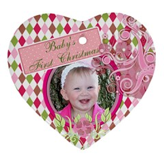 Baby By Digitalkeepsakes   Heart Ornament (two Sides)   7znenez3ds8r   Www Artscow Com Front