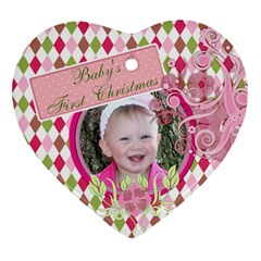 Baby By Digitalkeepsakes   Heart Ornament (two Sides)   7znenez3ds8r   Www Artscow Com Back