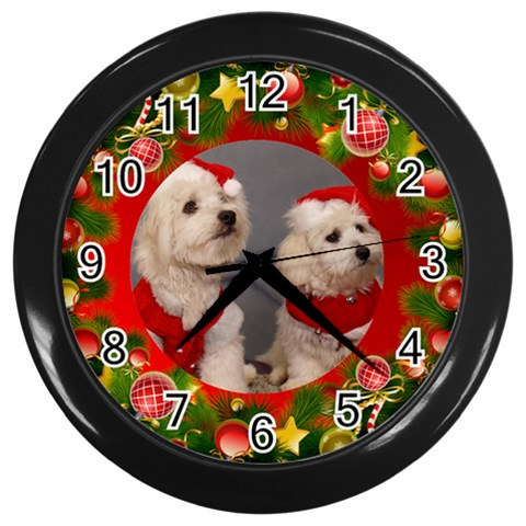 Christmas Clock By Deborah   Wall Clock (black)   Clsr3fdj82xy   Www Artscow Com Front