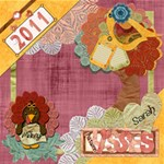 Autumn Kisses - ScrapBook Page 12  x 12