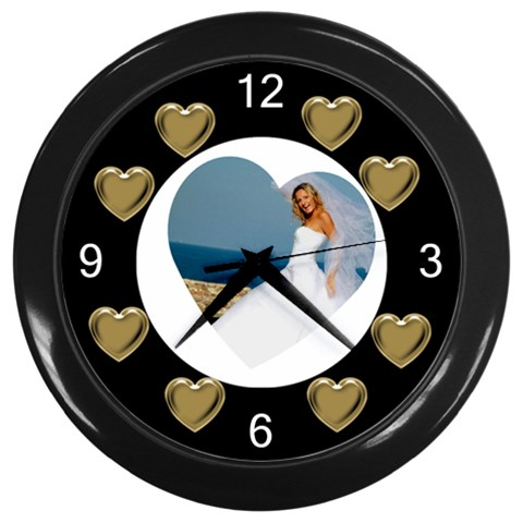Hearts Clock By Deborah   Wall Clock (black)   8ntpkq4kl521   Www Artscow Com Front