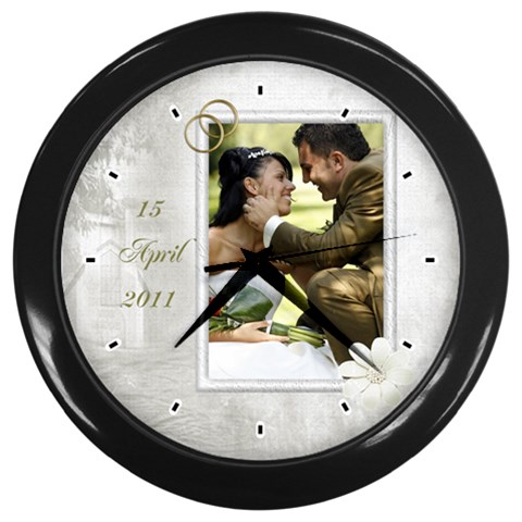 Our Wedding Clock By Deborah   Wall Clock (black)   625nto8c6qsw   Www Artscow Com Front