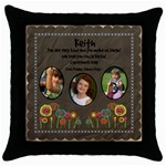 keiths pillow - Throw Pillow Case (Black)