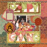 Autumn Happy Thanks Giving - ScrapBook Page 12  x 12