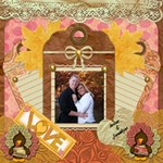 Autumn Love - ScrapBook Page 12  x 12