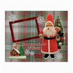 Santa Remember When 2011 Christmas small glass cloth - Small Glasses Cloth