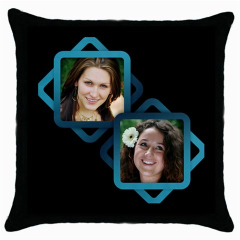 Aqua Throw Pillow By Deborah   Throw Pillow Case (black)   Tth4bvffuzdz   Www Artscow Com Front
