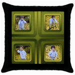 Gold Throw Pillow - Throw Pillow Case (Black)