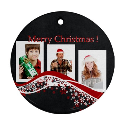 Christmas By May   Ornament (round)   3xr8efj0e6co   Www Artscow Com Front