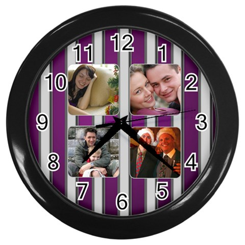 The Silver Family Clock By Deborah   Wall Clock (black)   Jek297uiuwfw   Www Artscow Com Front
