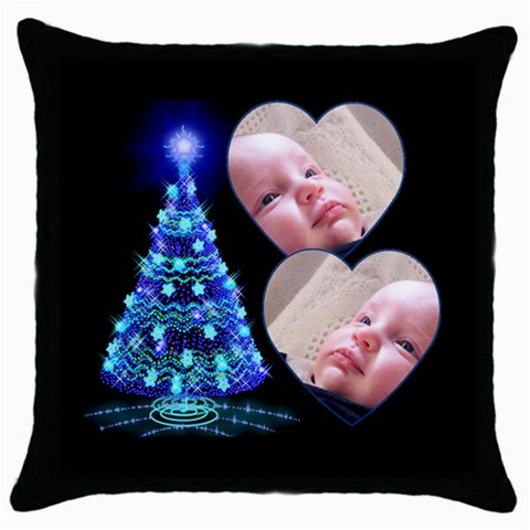 O Christmas Tree Thow Pillow By Deborah   Throw Pillow Case (black)   Pi21934921ar   Www Artscow Com Front