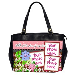 All Of The Pieces Of My Heart Office By Digitalkeepsakes   Oversize Office Handbag (2 Sides)   2l6y0g10dqui   Www Artscow Com Front