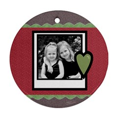 Christmas Ornament By Amanda Bunn   Round Ornament (two Sides)   Ya5nk0htfcou   Www Artscow Com Back