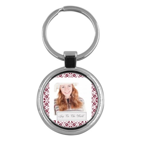Christmas By May   Key Chain (round)   Ykf5k1r0ac5h   Www Artscow Com Front