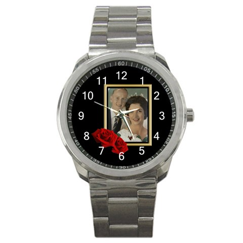 Dads Sports Watch By Deborah   Sport Metal Watch   Ask0rtn0i8wv   Www Artscow Com Front
