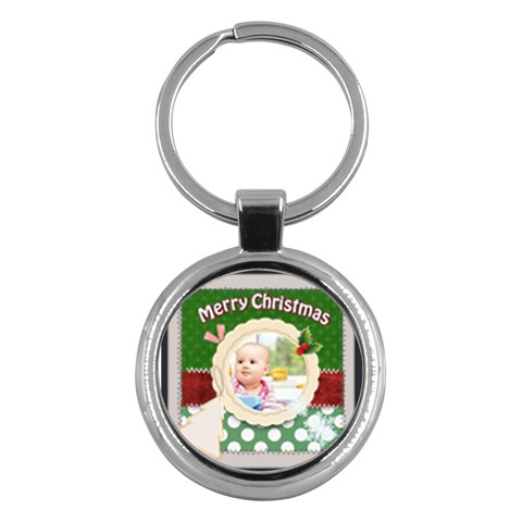 Christmas By Joely   Key Chain (round)   Gcff75r7erqp   Www Artscow Com Front