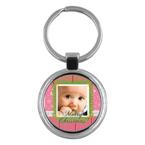 Christmas By Joely   Key Chain (round)   Ceexw5402fjz   Www Artscow Com Front