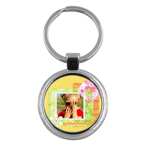 Christmas By Joely   Key Chain (round)   7mwwsvb5t3e2   Www Artscow Com Front