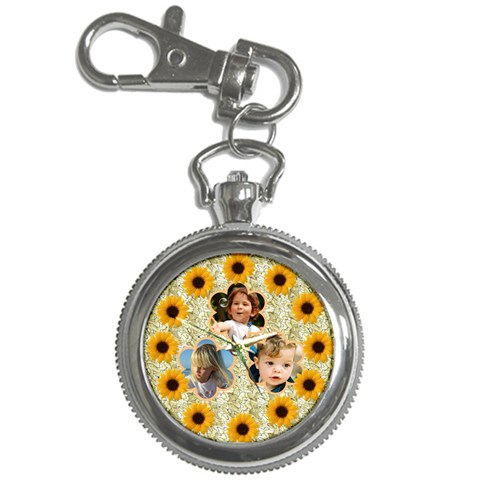 Sunflower Key Chain Watch By Deborah   Key Chain Watch   Sfd8ot4ojv6x   Www Artscow Com Front