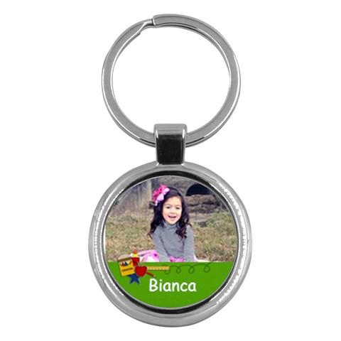 Keychain  School1 By Jennyl   Key Chain (round)   X1wi6mulzdzn   Www Artscow Com Front