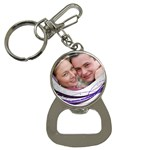 Purple Wave Bottle Opener Key chain