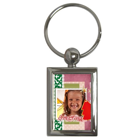Christmas By Joely   Key Chain (rectangle)   Uqbcq26wanbm   Www Artscow Com Front