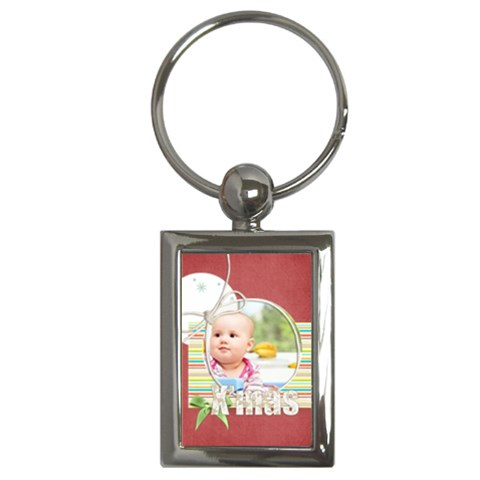 Christmas By Joely   Key Chain (rectangle)   53fstt0f00ws   Www Artscow Com Front