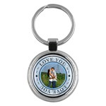 Love You Round Key Chain - Key Chain (Round)