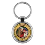 Mom Round Key Chain - Key Chain (Round)