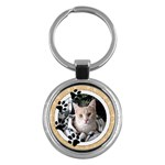 Love My Cat Round Key Chain - Key Chain (Round)
