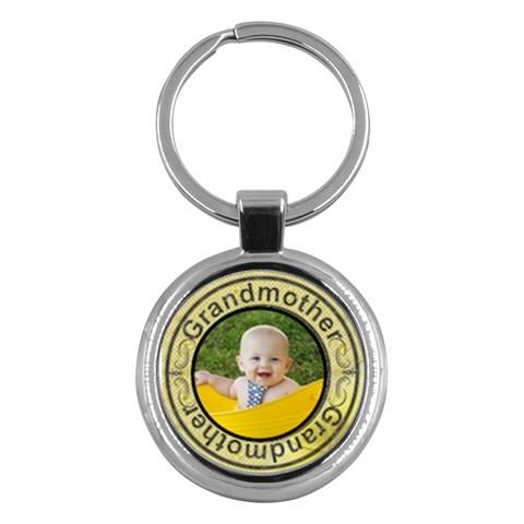 Grandmother Round Key Chain By Lil    Key Chain (round)   M0sbsp519d57   Www Artscow Com Front