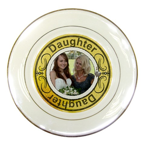 Daughter Porcelain Plate By Lil    Porcelain Plate   Brfmcdrgbrt0   Www Artscow Com Front