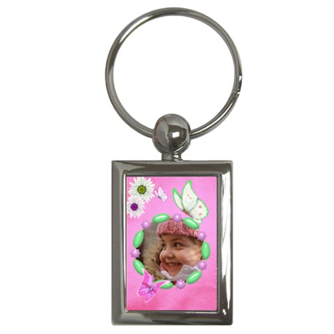 Butterflies Key Chain By Deborah   Key Chain (rectangle)   Eilmd1458w31   Www Artscow Com Front