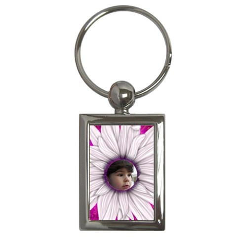 Flower Child Key Chain By Deborah   Key Chain (rectangle)   Og2my1rot3n4   Www Artscow Com Front