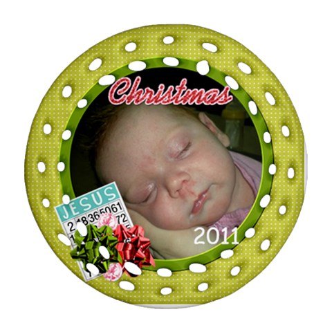 Ornament 2011 Christmas By Martha Meier   Ornament (round Filigree)   6xgrucfyy44n   Www Artscow Com Front