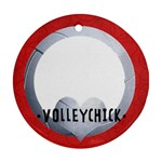 Volleyball- round ornament (2 sides) - Round Ornament (Two Sides)