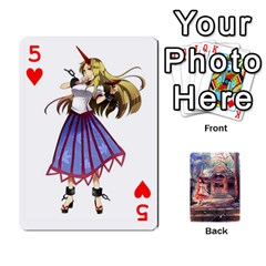 Touhou Playing Card Deck Reimu Back By K Kaze   Playing Cards 54 Designs   6b2xwy4bizyw   Www Artscow Com Front - Heart5
