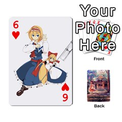 Touhou Playing Card Deck Reimu Back By K Kaze   Playing Cards 54 Designs   6b2xwy4bizyw   Www Artscow Com Front - Heart6