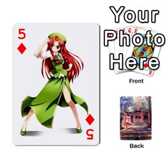 Touhou Playing Card Deck Reimu Back By K Kaze   Playing Cards 54 Designs   6b2xwy4bizyw   Www Artscow Com Front - Diamond5
