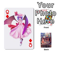 Queen Touhou Playing Card Deck Reimu Back By K Kaze   Playing Cards 54 Designs   6b2xwy4bizyw   Www Artscow Com Front - DiamondQ