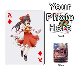 Ace Touhou Playing Card Deck Reimu Back By K Kaze   Playing Cards 54 Designs   6b2xwy4bizyw   Www Artscow Com Front - DiamondA