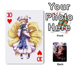 Touhou Playing Card Deck Marisa Back By K Kaze   Playing Cards 54 Designs   Uas4h52vk41q   Www Artscow Com Front - Heart10