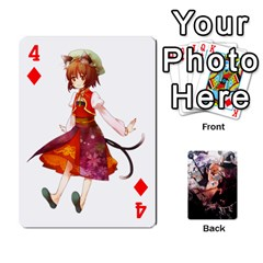 Touhou Playing Card Deck Marisa Back By K Kaze   Playing Cards 54 Designs   Uas4h52vk41q   Www Artscow Com Front - Diamond4