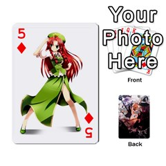 Touhou Playing Card Deck Marisa Back By K Kaze   Playing Cards 54 Designs   Uas4h52vk41q   Www Artscow Com Front - Diamond5