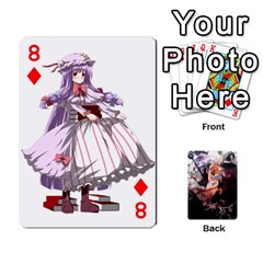Touhou Playing Card Deck Marisa Back By K Kaze   Playing Cards 54 Designs   Uas4h52vk41q   Www Artscow Com Front - Diamond8