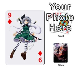 Touhou Playing Card Deck Marisa Back By K Kaze   Playing Cards 54 Designs   Uas4h52vk41q   Www Artscow Com Front - Diamond9