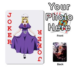 Touhou Playing Card Deck Marisa Back By K Kaze   Playing Cards 54 Designs   Uas4h52vk41q   Www Artscow Com Front - Joker2