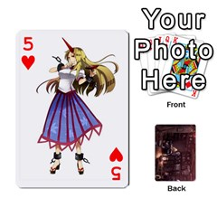 Touhou Playing Card Deck Rinnosuke Back By K Kaze   Playing Cards 54 Designs   N3m8xk3rxusm   Www Artscow Com Front - Heart5