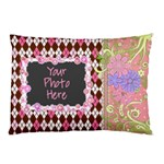 Pink Vine Pillow Case