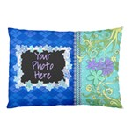 Blue Vine Pillow Case 2